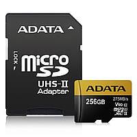 Micro SD ADATA Premier ONE 256GB SDXC UHS-II U3 Class10 V90 3D NAND 4K 8K Ultra HD 275MB/s