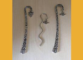 Закладки металлические с узорами