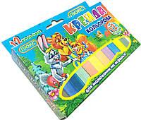 """Мелки цветные """"ЛК"""" (12 цветов) квадратные, для детского творчества"""