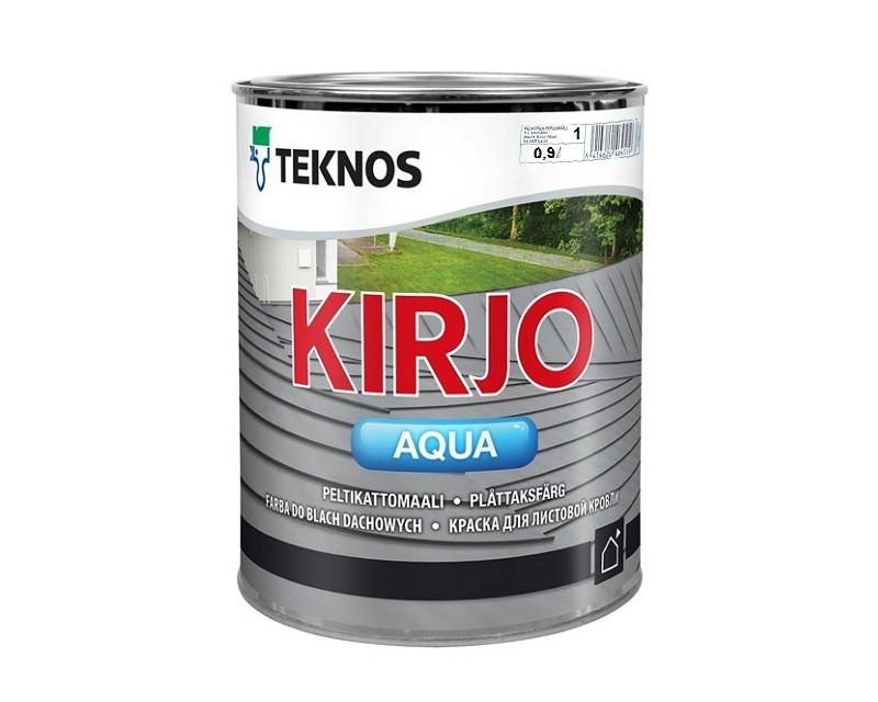Эмаль акриловая TEKNOS KIRJO AQUA для крыш и листового металла белый (база 1) 0,9л