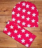 Дитячий набір шапочка+шарф(хомут)подвійний трикотаж!, фото 5