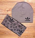 Дитячий набір шапочка+шарф(хомут)подвійний трикотаж!, фото 2