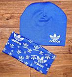 Дитячий набір шапочка+шарф(хомут)подвійний трикотаж!, фото 6