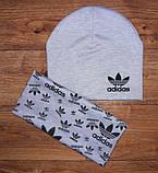 Дитячий набір шапочка+шарф(хомут)подвійний трикотаж!, фото 7