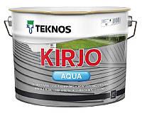 Эмаль акриловая TEKNOS KIRJO AQUA для крыш и листового металла транспарентная (база 3) 9л