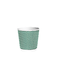 Стакан гофрированный 110мл. 15шт(20/300) Зеленый точка