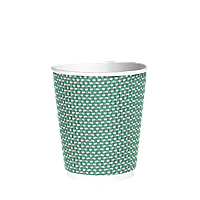 Стакан гофрированный 250мл. 25шт (20/500) (кв79) Зеленый точка