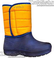 Сапоги женские Дутик из ЭВА (сине-желтые)