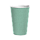 Стакан гофрированный 450мл. 25шт (60/400) (кв90) Зеленый точка