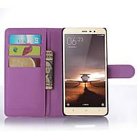 Чехол для Xiaomi Redmi Note 3 / Note 3 Pro книжка кожа PU сиреневый