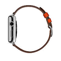 Apple Watch Hermés 42mm Stainless Steel Case with Feu Epsom Leather Single Tour