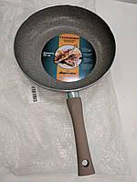 Сковорода с мраморным покрытием Supretto 28 cм, мраморная сковорода, готовьте вкусно  и  с  удовольствием