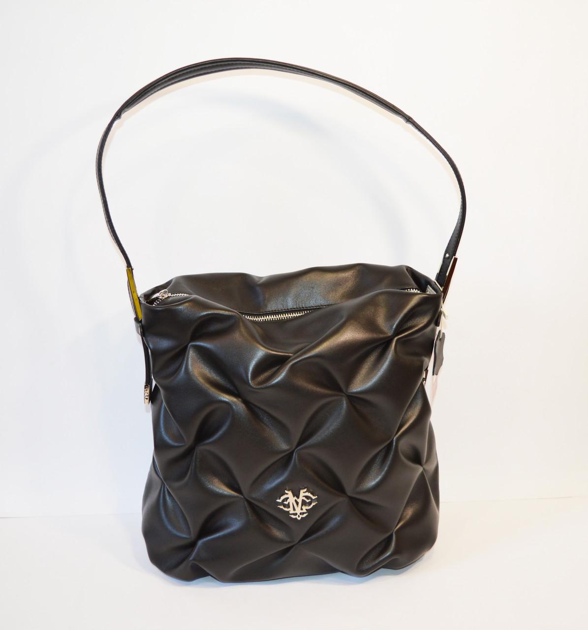Черная сумка из натуральной кожи Valiente 836