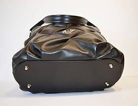 Черная сумка из натуральной кожи Valiente 836, фото 3