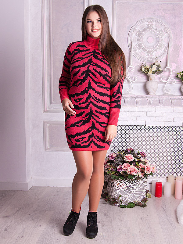 Вязаное платье большого размера 599 р 48-58