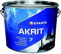 Краска  Akrit 7 9,5 л. (краска шелкоматов.)