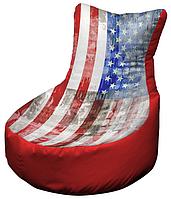 Кресло мешок с принтом рисунок 002 бескаркасное кресло,пуфик мешок,кресло пуф, мягкое кресло пуф.