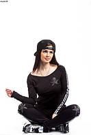 Женский спортивный костюм Томми Халфайгер,Трикотаж двухнитка(значек со стразами)