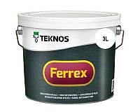 Эмаль алкидная TEKNOS FERREX антикоррозионная белая 3л