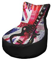 Кресло мешок с принтом рисунок 004 бескаркасное кресло,пуфик мешок,кресло пуф, мягкое кресло пуф.