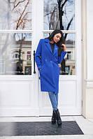 Пальто женское кашемир+подкладка,отличное качество,со значком Chanel.
