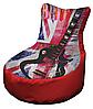 Кресло мешок с принтом рисунок 005 бескаркасное кресло,пуфик мешок,кресло пуф, мягкое кресло пуф.