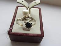 """Серебряное кольцо с жемчугом """"Инь Ян"""", фото 1"""