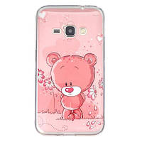 Чехол Для Samsung Galaxy J1 J120 Полимерный TPU (Мишка)