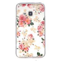 Чехол Для Samsung Galaxy J1 J120 Полимерный TPU (Розы)