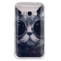 Чехол Для Samsung Galaxy J1 J120 Полимерный TPU (Кот)