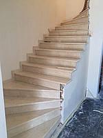 Лестница мраморная Сrema marfil
