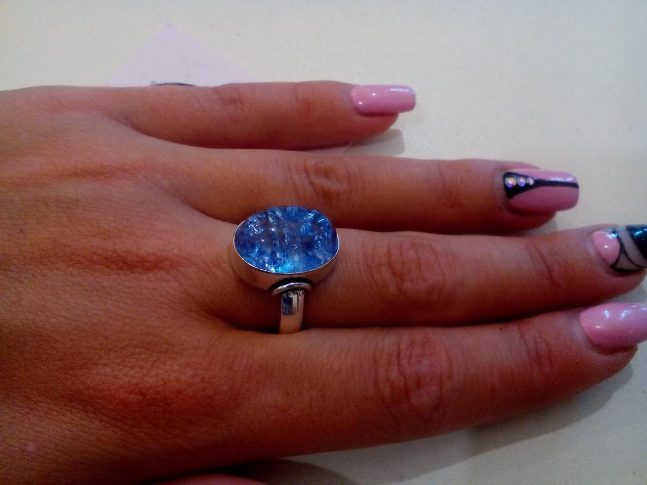Кольцо змеиный кварц в серебре. Кольцо с змеиным кварцем. 20 размер Индия