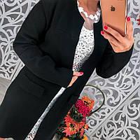 Красивый кардиган с карманами черный, фото 1