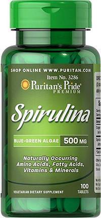 Puritan's Pride Spirulina 500 mg 100 Tablet, фото 2