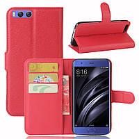 Чехол Xiaomi Mi6 книжка PU-Кожа красный