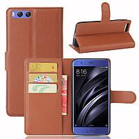 Чехол Xiaomi Mi6 книжка PU-Кожа коричневый