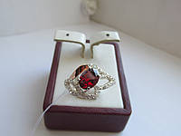 "Кольцо серебряное с золотыми пластинами ""Оливия"", фото 1"