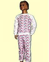 Пижама для Девочки Рибана Белая  Рост 80-140 см