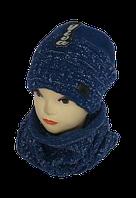 Комплект женский шапка и шарф хомут м 7016, разные цвета   (В.И.В.)