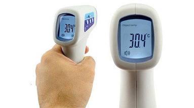 Инфракрасный бесконтактный термометр пирометр Babylon BLTH-2 измеряет температуру тела, фото 2