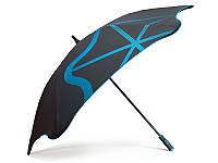 Противоштормовой зонт-трость с большим куполом механический для мужчин BLUNT (БЛАНТ) Bl-golf2-blue