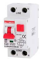 Выключатель дифференциального тока с защитой от сверхтоков E.NEXT e.rcbo.pro - 1P+N; 40А; С; тип А; 30мА