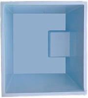 Готовый стекловолоконный приямок с крышкой, бокс 1,2 х 1,3 х 1,0 м