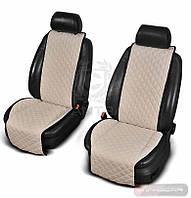 Cantra чехлы на передние сиденья с ушками молочные ✓ 2шт.