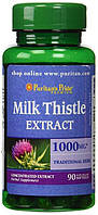 Расторопша для печени, Puritan's Pride, Milk Thistle 4:1 Extract 1000 mg (Silymarin) 90 Softgels