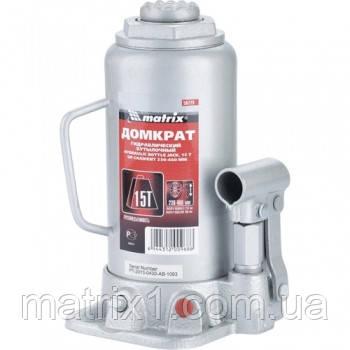 Домкрат гидравлический бутылочный, 15 т, h подъема 230–460 мм// MTX MASTER