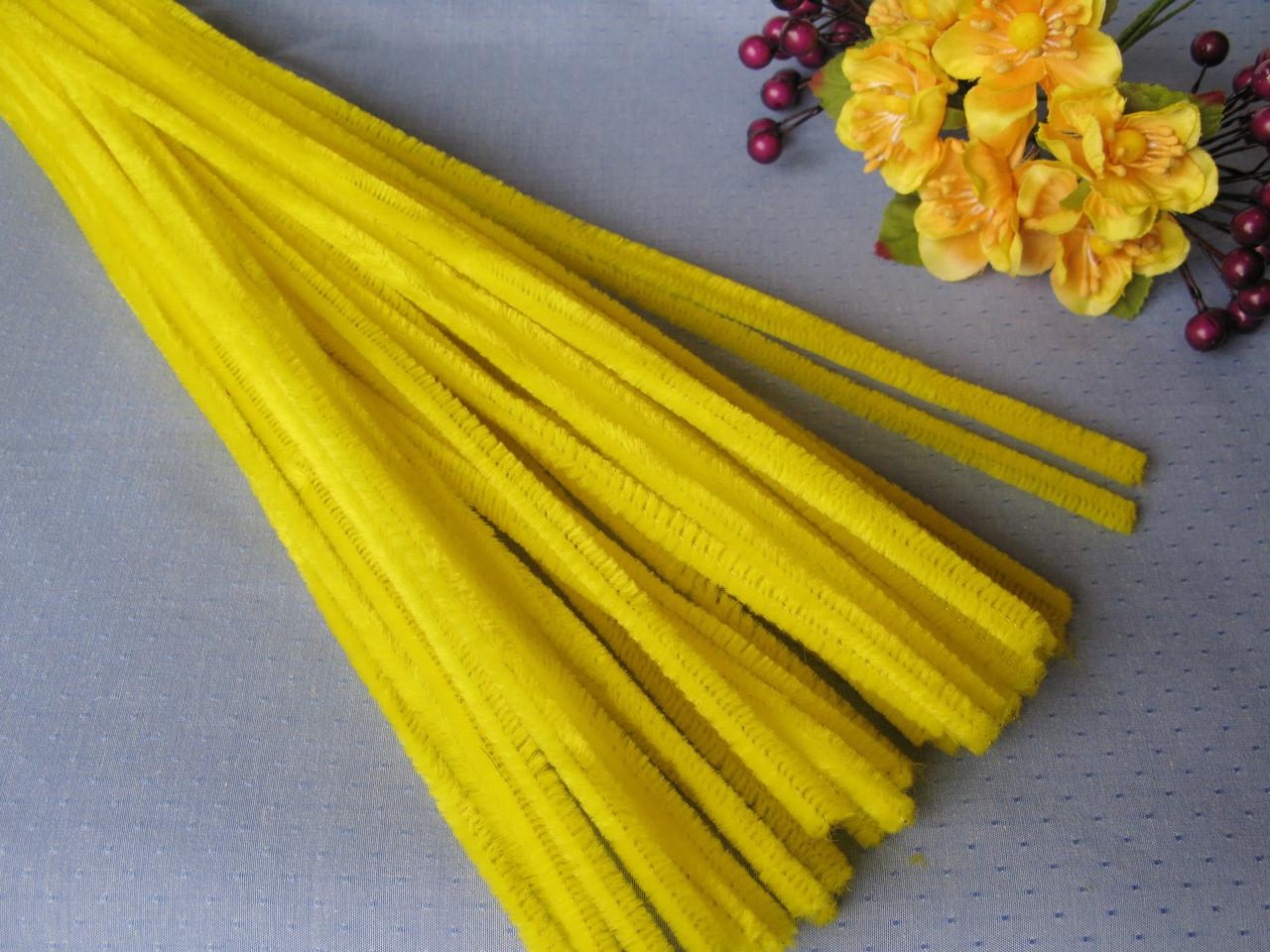 Синельная Проволока Желтая 30 см
