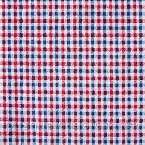 Ткань поплин-коттон стрейчевый в клетку (дизайн 5)