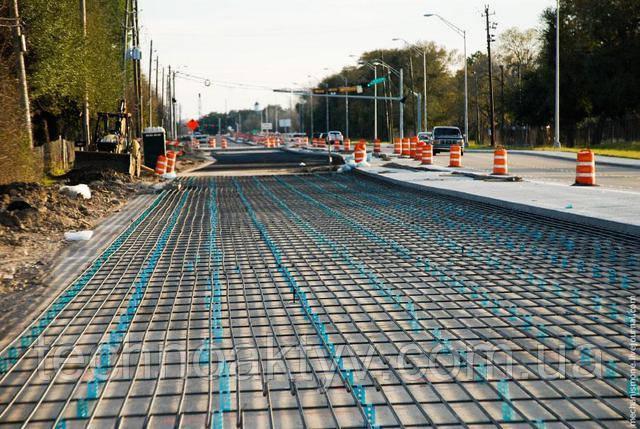 Так строят бетонные дороги в США