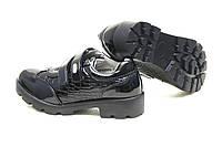 Детские лакированные осенние туфли на девочку на липучках